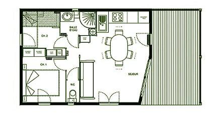 Hameaux de Miel cottages description 2 guests